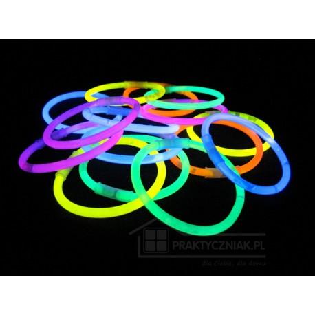 Świecące bransoletki (światło chemiczene) 100 szt.