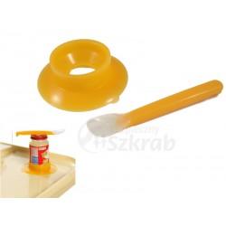 Silikonowa (miękka) łyżeczka do karmienia dziecka + podstawka