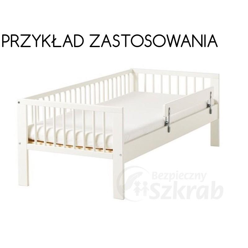 Barierka Ochronna Do łóżka Biała Bezpiecznyszkrabpl