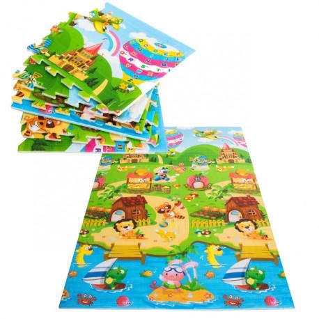 Mata piankowa, puzzle dla dzieci 180x120 cm